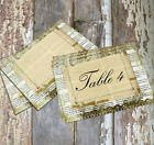 LARGE DOUBLE or SINGLE SIDED SHABBY CHIC WEDDING TABLE CARDS or SIGN #200
