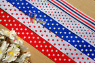 "1""pick/Mix July 4th Patriotic Stars Strips Grosgrain Ribbon hair Bow 5/10/20Yds"