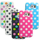 New Polka Dot Rubber Gel Case Cover for Samsung Galaxy S6