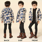 Winter Kids Boys Cotton Thicken Warm Thermal Jacket Coat Outerwear Parkas Hooded