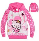 Hello Kitty Sweatshirt Hoodie Coat Jacket Outfit Costume Girls Baby Princess 2-9