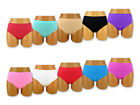5 Or 10 Piece Ladies Briefs Microfibre Knickers Black White Colourful