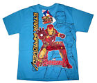 Avengers Ultron Iron Man boys cotton t-shirt Size 6,8,10,12 Age 4-9y Free Ship