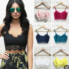 Fashion Sexy Women Lace Floral Bralet Bra Bustier Crop Top Cami Tank FO UK 10