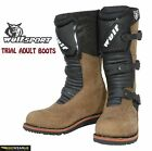 WULFSPORT TRIALS ADULT SPORTS AND RACING MOTORCYCLE ARMOUR BOOTS BROWN
