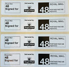 Roll Printed Royal Mail Second Class 48 SIGNED FOR PPI Postage Labels