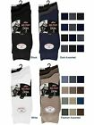 3 Mens Plain Lycra® Cotton Rich Elastic Top Socks / Big Foot / UK 11-14