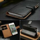 Genuine Real Leather Wallet Flip Case Cover for New Apple iPhone 7 6 6s 7 Plus <br/> SUPERIOR LEATHER- iPhone SE /4/4s/5C 5/5s/6/6 PLUS7/7+