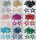 35mm self adhesive Outline Glitter Star Sticker Card making craft christmas