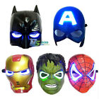 LED Children's Kids Superhero Avenger Masks Costume Halloween Party Toy Cosplay