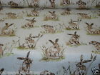 CHATHAMGLYN VINTAGE ANIMAL PRINT HARES MULTI TEFLON COATED TABLECLOTH WIPE CLEAN