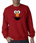 Elmo Face Sesame Street Character Cartoon Jerzees Crewneck Sweatshirt