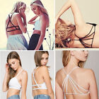 Women Ladies Sexy Padded Bra Tops Bustier Cutout Vest Crop Halter Neck Blouse