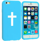 For iPhone 4 4s 5 5s 5c 6 6s Silicone Soft Rubber Case Cover Cross Christian