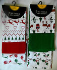 Christmas 3-Pack Tea Towels 100% Cotton Size approx: 63 x 38cm