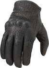 NEW  ZIR MENS BLACK LEATHER PERFORATED GLOVES CRUISER HARLEY INDIAN BAGGER
