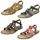 Savannah Ladies Open Toe Gladiator Sandals with Buckle Fastening