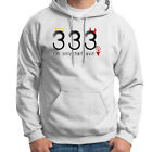 333 Only Half Evil College Humor T-shirt Funny Halloween Angel Hoodie Sweatshirt