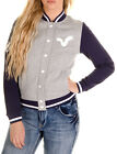 New Womens Designer Voi Jeans Ladies Varsity Jackat Coat Sweat Summer Grey