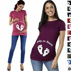 Happy Mama. Woman's Maternity Slogan Little Feet Funny Print Top T-shirt. 199p