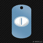 Italy Oval Keychain GI dog tag engraved many colors  country code I