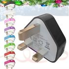 NEW CHRISTMAS,NEW YEAR  GIFT CE COLOUR PLUG WALL MAINS USB CHARGER  FOR PHONES