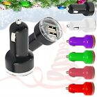 NEW CHRISTMAS,NEW YEAR GIFT Universal Twin USB mini Car charger   FOR PHONES