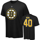 TUUKKA RASK #40 Boston Bruins Reebok Player Black Men's T-Shirt