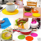 2 × Silicone Table Heat Resistant Mat Cup Coaster Cushion Placemat Tableware Pad