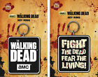 Official Walking Dead Rubber Keyring Keychain AMC Zombie TV Gift