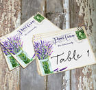 DOUBLE or SINGLE SIDE LAVENDER MASON JAR POSTCARD WEDDING TABLE CARD - SIGN #180
