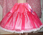 1 HOOPED NET AND ORGANZA LONGER LENGTH PETTICOAT / UNDERSKIRT