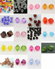 Acrylic Plastic Faceted Bicone Beads 6mm Jewellery Making Crafting