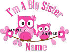 BIG SISTER IRON ON TRANSFER PERSONALISED FREE Ref 28 - 07