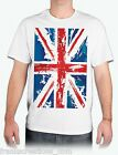 UK Flag Union Jack Shirt. United Kingdom Men's White T Shirt