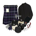 PARTY KIT KILT OUTFIT - HERITAGE OF SCOTLAND - BLACK - SIZE & UPGRADE OPTIONS !