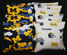 8 CORNHOLE BEANBAGS made w University of MICHIGAN WOLVERINES Camo Fabric
