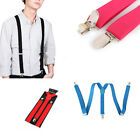 New Mens Women Black Clip-on Suspender Elastic Y-Shape Adjustable Fashion Braces