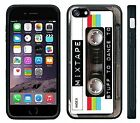 Mixed Tape Cassette Retro Old School Music, Black Rubber case for iPhone/Samsung