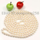 """s073 Long AA 7-8mm 8-9mm White Black Pink Cultured Akoya Pearl Necklace 50-100"""""""