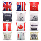 Cotton Linen Pillow Case Car Sofa Bed Waist Throw Cushion Cover Home Decoration image