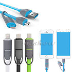 2in1 Micro USB Lightning Data Sync Charger Cable Cord For iPhone 6S Samsung USB