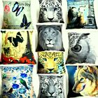 3D Animal Printed / Motif Cushion Covers. Sofa Bed Vintage Pictured Pillow Cases