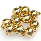 10 Sets Silver/Gold Plated Round Beads Magnetic Clasps 6/8mm For Jewelry Making
