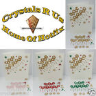 merry Christmas Xmas STICKER GLITTER self adhesive diy personalise card making