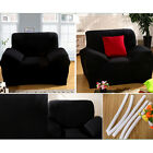 Luxury Sofa Seat Arm Chair Settee Elastic Solid Color Slip Cover  washable uk