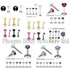 Internally Threaded Labret Monroe Helix Tragus 16g Ear Stud Bar - Choose Style