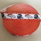 "7/8"" Denver Broncos Orange Border Grosgrain Ribbon by the Yard (USA SELLER) $9.55 USD on eBay"