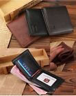 *US SHIP* Men's Bifold Wallet Leather Credit Card Holder ID zip Slim Purse
