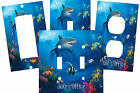PERSONALIZED SHARK TROPICAL CORAL REEF CLOWN FISH SWITCH PLATE COVER HOME DECOR